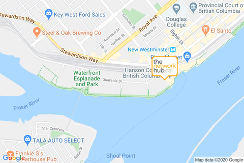 The Network Hub - New Westminster Map